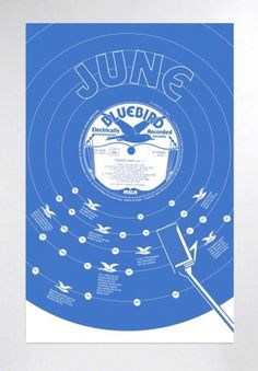 Vinyl Calender Series - kevincraftdesign #calender #calendar #vinyl #poster #blue
