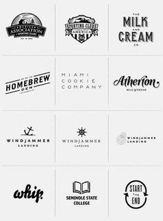 Miscellaneous Logos #logo #logos #black and white