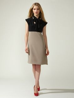 Derek Lam Silk Tie Neck Dress #fashion #dress #gilt