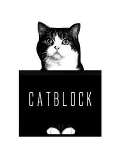 Cat Block #logo #white #cat #black