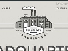Ibsens Identity Website #line #building #work #factory #illustraiton