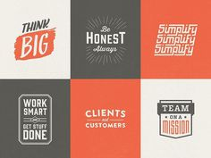 Core values logos by Brett Swihart #logo