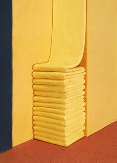 Man Make Home - Colours #interior #corner #yellow #towels #photography #folded