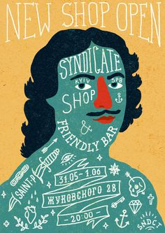 Syndicate shop & friendly bar #sndct #orka #illustration #poster #abo #typography