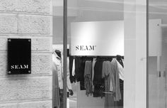Logo and signage designed by For Brands for fashion brand Seam #brand #seam #brands #designed #signage #logo #fashion