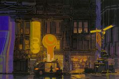 Blade Runner concept artist, design-fiction guru – Syd Mead | Graphicine #mead #blade #night #runner #concept #art #street #signs #syd #neon