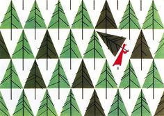MID CENTURY MODERN DESIGN, Christmas Card designed by Charley Harper for The... #harper #vintage
