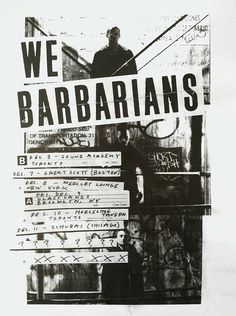 We Barbarians #layout