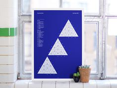 Every Cloud - A scientific screenprint by Joseph Perry #geometry #weather #cloud #white #sky #print #screenprint #triangle #poster #blue #science
