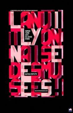 Baubauhaus. #pink #type #poster