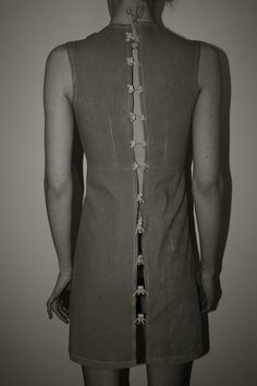 Rabbit Spine Dress | Freya Edmondson #skeleton #girl #design #bone #tattoo #back #dress #pine #fashion #rabbit