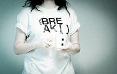 Break_ [ _ ]   Flickr: Intercambio de fotos #girl #break #coffee #typo #shirts