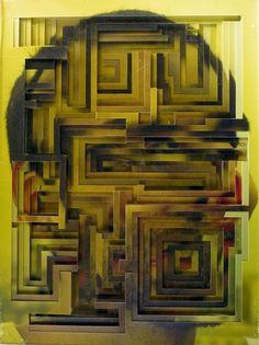 Lucas Simões | Colossal #square #face #paper #cut