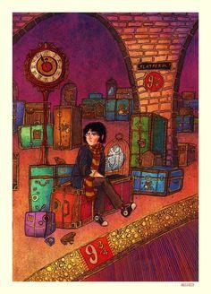 Harry Potter on the Behance Network #harry #illustration #potter