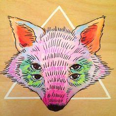 Paper Bag Beers #ink #fox #illustration #wolf #art #collaboration #toronto