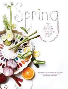 from Sweet Paul magazine beautiful layout #cover #photography #food #typography