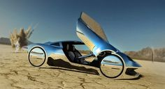 JNKDESIGNWORKS: Bling ! bling ! Desert chrome #design #future #concept #chrome #car #desert