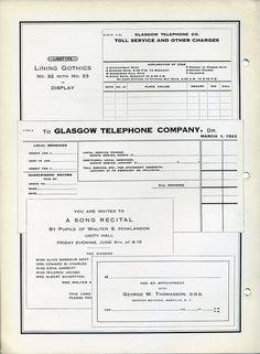 Linotype's Lining Gothic type specimen