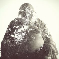 All sizes | Double exposure // Buddha Ornament // Woodland | Flickr - Photo Sharing!