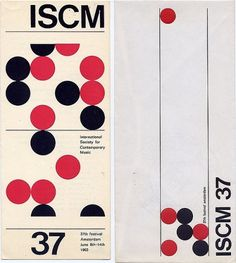 Flyer Design Goodness - A flyer and poster design blog: Wim Crouwel - selected graphic designs and prints from museum archive #white #red #flyer #black #crouwel #wim #iscm #typography