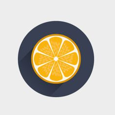 Orange you glad it's flat design #icon #circle #orange