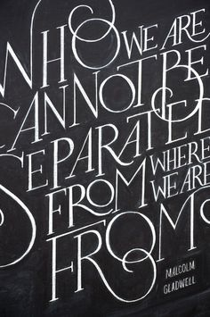 Holiday: Malcolm Gladwell on Behance #lettering #blackboard #design #chalk #typography