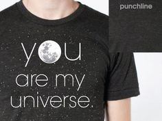 Dribbble - Punchline Tee by Jason Doring #universe #punchline #apparel #t #shirt #stars #moon
