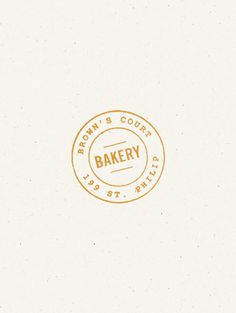 Brown's Court Bakery logo design by Nudge #stamp #bakery #branding #design #logo #typography