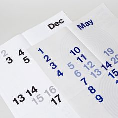 Studio Lin #calendar #poster #typography