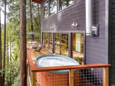 Russian River Cabin with Mid-Century Modern Design 15