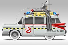 ECTO_1_by_scuzzo.jpg (JPEG Image, 604 × 407 pixels) #ghostbusters #ambulance