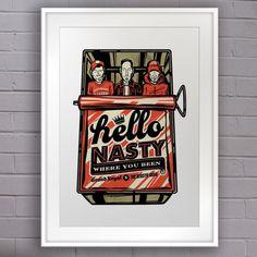 Hello Nasty - Beastie Boys #print #beastie #nasty #boys #hello #poster #hop #hip #typography