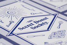 The Secret Donut Society by Ceci Peralta and José Velázquez #graphic design #print #photography