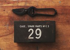 Case, Spare Parts No C 3 #typography #industrial #military #hand #crafted
