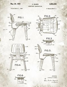 On Display #furniture #drawings #eames