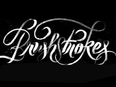 Dribbble - Brushstroking by Friends of Type #type #illustration #typography