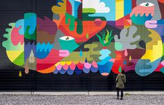 Google Collaborates With Street Artists for Large-Scale Mural Project Bringing life to data centers, the homes of the internet.