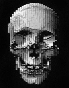 Aerosynlex: Updates » Changethethought™ #skull #distorted