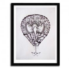EAGLE BALLOON BOAT BY FAVRY #print #art