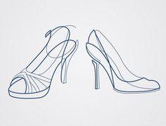 http://curvesyndrome.tumblr.com/ #line #shoes #illustration #heels #calder