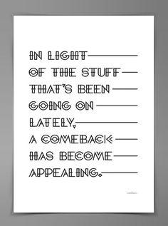 Comeback Identity #design #quality #typography