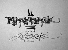 BLAQK #calligraphy #greg #blaqk #papagrigoriou #simek #typography