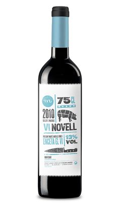 Vino Vi Novell 2010 Packaging, by Atipus #graphic design #design #creative #packaging #wine #inspiration