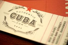 Authentic Cuba swings #mark #type #tag #label