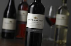 Pedroncelli Wine Label Evolution
