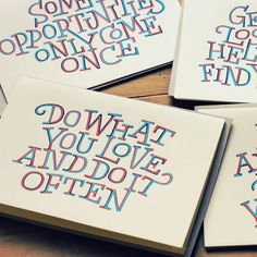 Letterpress Cards by Dave Foster