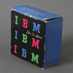 IBM Packaging by Paul Rand #packaging #color #rand #vintage #ibm #paul