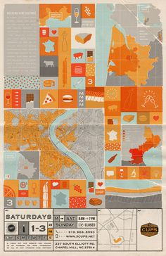 Weekend Wine Tastings #poster #wine #map #icon