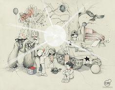 TheGang.jpg 800×633 pixels #gang #the #illustration #pencil #drawing