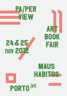 carre blanc:Pa/per View Art book fair. #poster